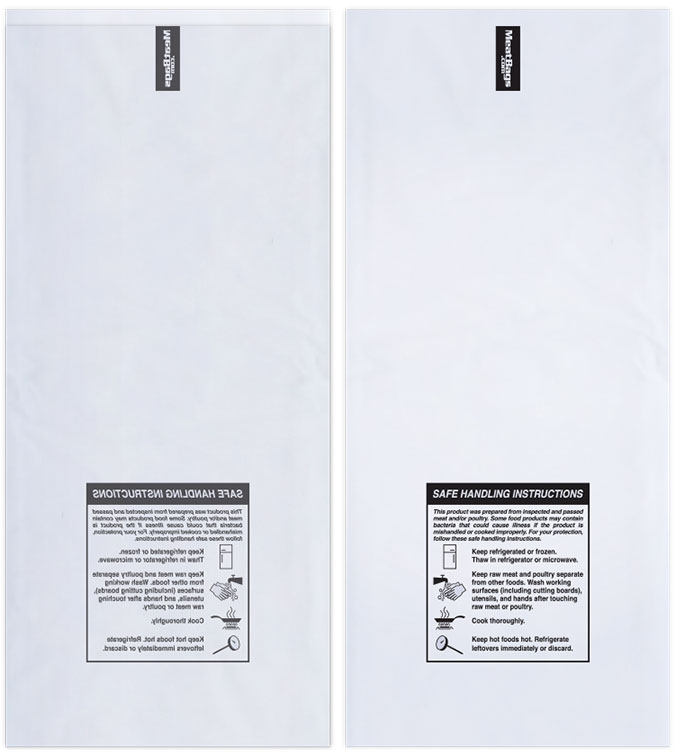 2lb Clear W Safe Handling Instructions Case Of 1000 Meatbags
